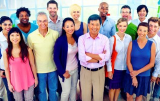 Workplace diversity in office